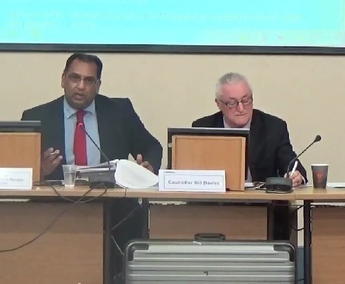 Surjit Tour (Monitoring Officer at Wirral Council) gives councillors his opinion at the meeting that he doesn't think the draft policy banning filming breaches the Human Rights Act 1998 3rd March 2015.jpg